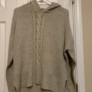 RD style khaki hooded sweater